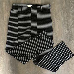 H&M black white stripped trousers / dress pants